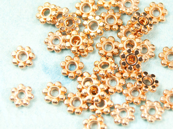 10x Spacer Rosegold 5,5mm #3413