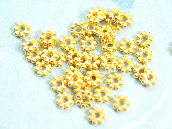 10x Spacer Gold 5,5mm #3414