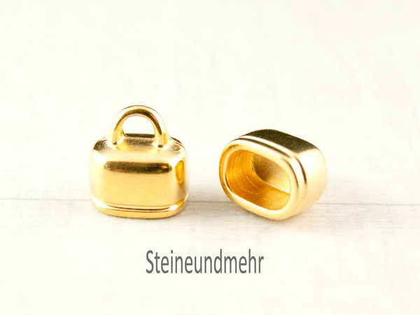 Endkappen Metall Gold 10x6mm #1539