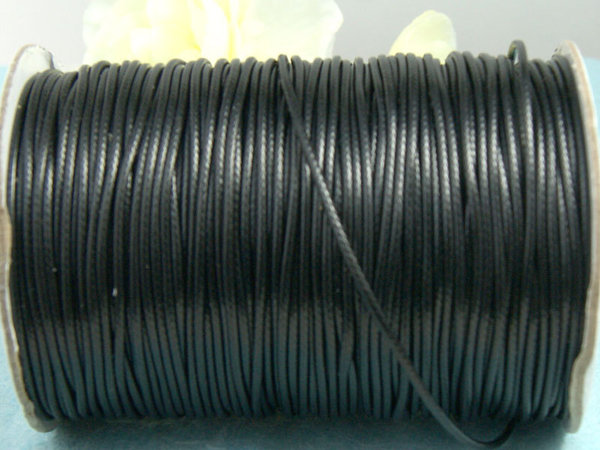 1m Snake-Effect-Band schwarz 1.5mm synth. #4060